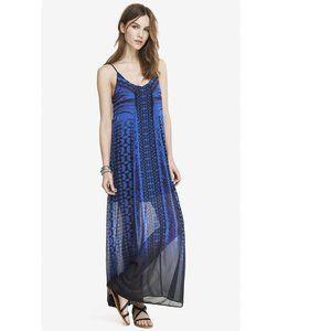 HP⭐️ Express blue black southwest print maxi dress